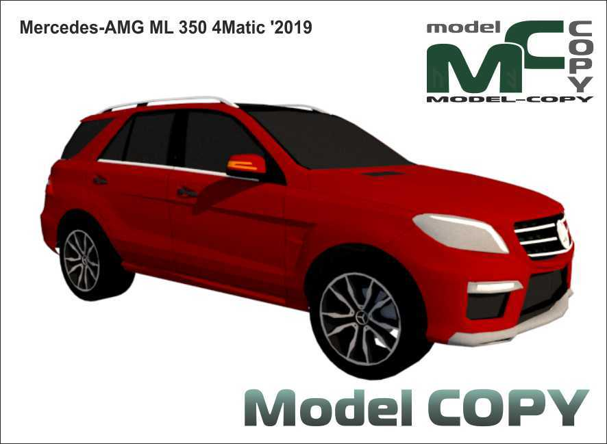 Mercedes-AMG ML 350 4Matic '2019 - 3D Model