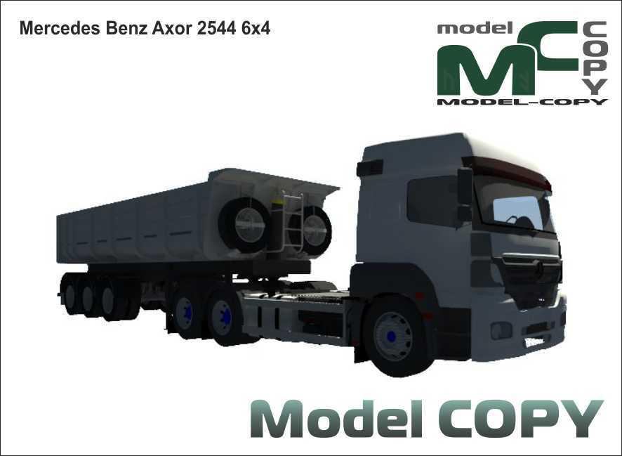 Mercedes-Benz Axor 2544 6x4 - 3D Model