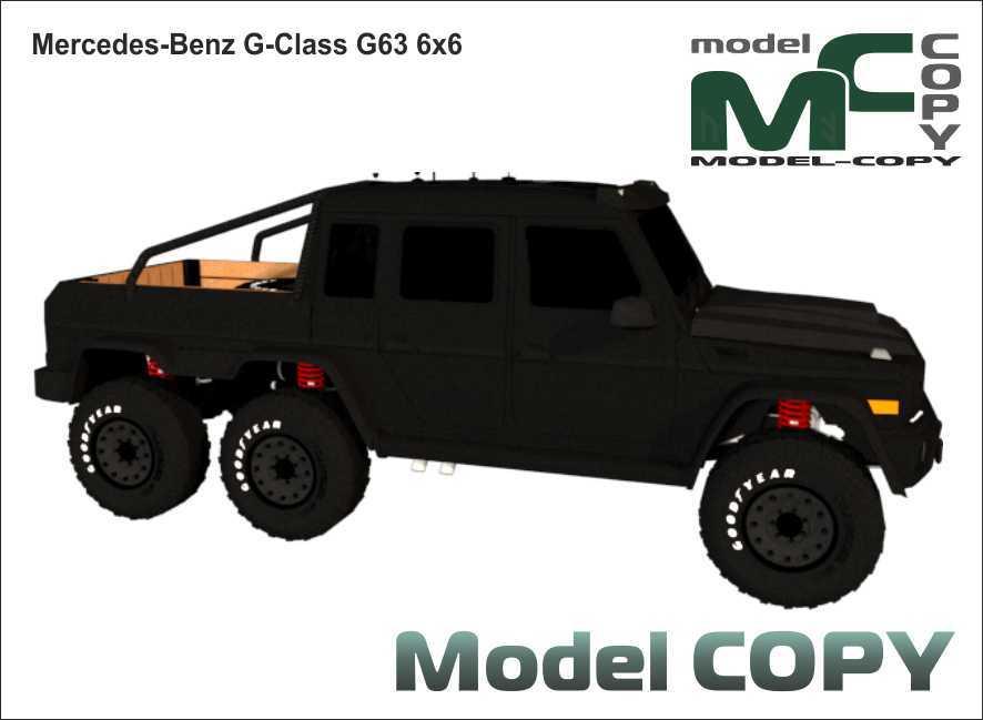 Mercedes-Benz G-Class G63 6x6 - 3D Model