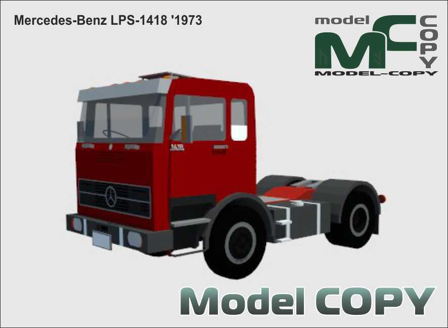 Mercedes-Benz LPS-1418 '1973 - 3D Model