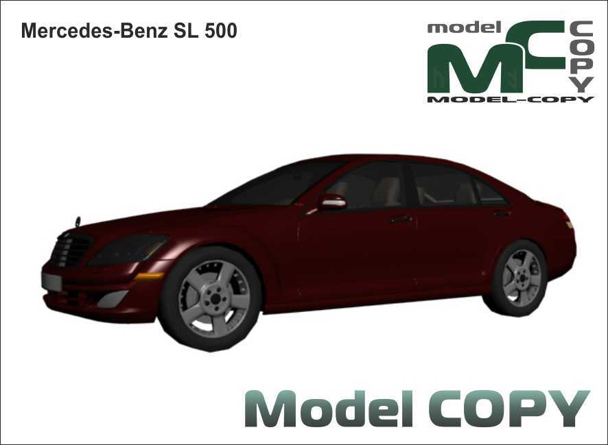 Mercedes-Benz SL 500 - 3D Model