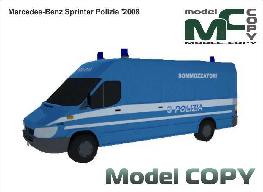 Mercedes-Benz Sprinter Polizia '2008 - 3D Model