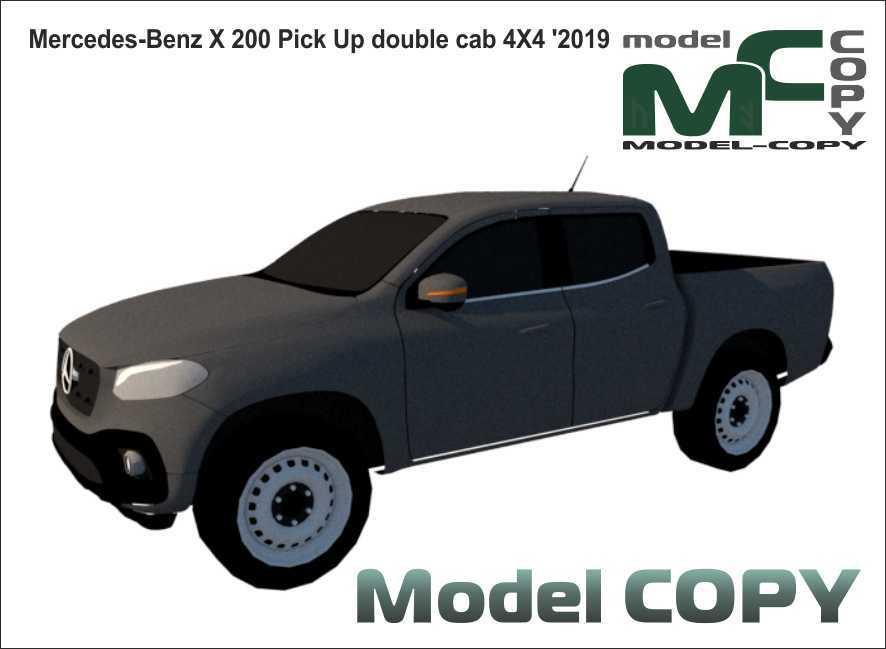 Mercedes-Benz X 200 Pick Up double cab 4X4 '2019 - 3D Model