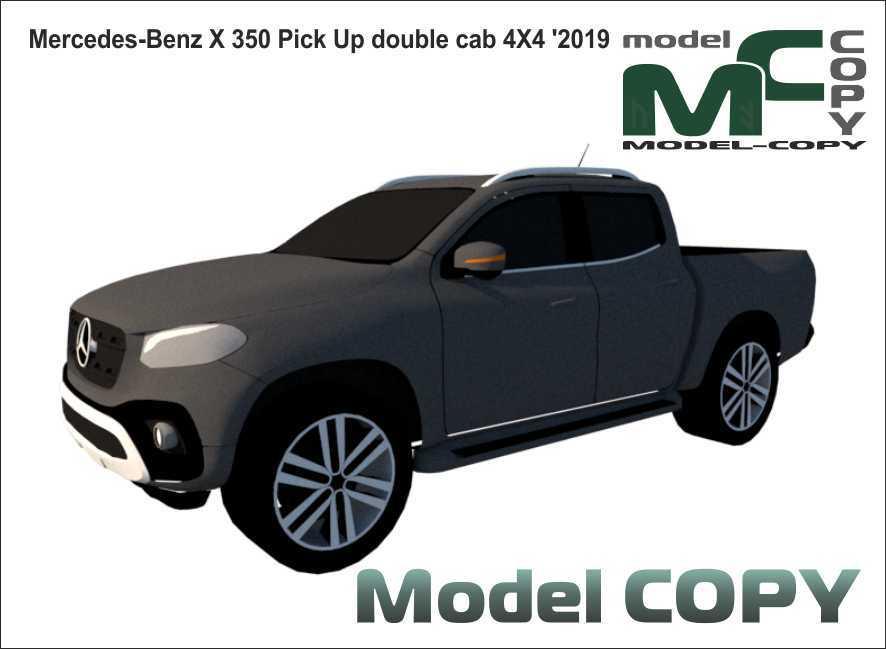 Mercedes-Benz X 350 Pick Up double cab 4X4 '2019 - 3D 모델