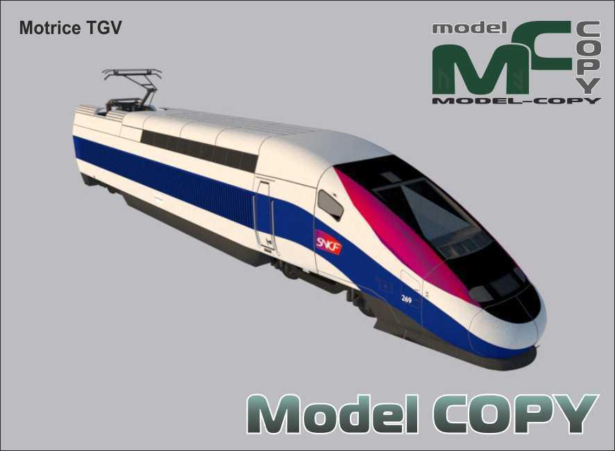 Motrice TGV - 3D Model
