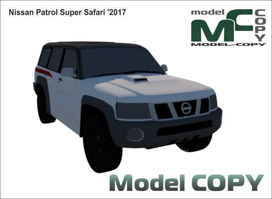 Nissan Patrol Super Safari '2017 - Modello 3D