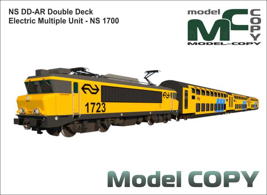 NS DD-AR Double Deck Electric Multiple Unit - NS 1700 - 3D Model