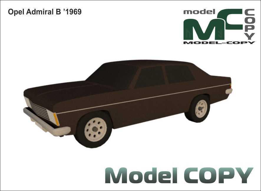 Opel Admiral B '1969 - 3D Model