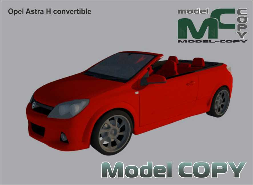 Opel Astra H convertible - 3D Model