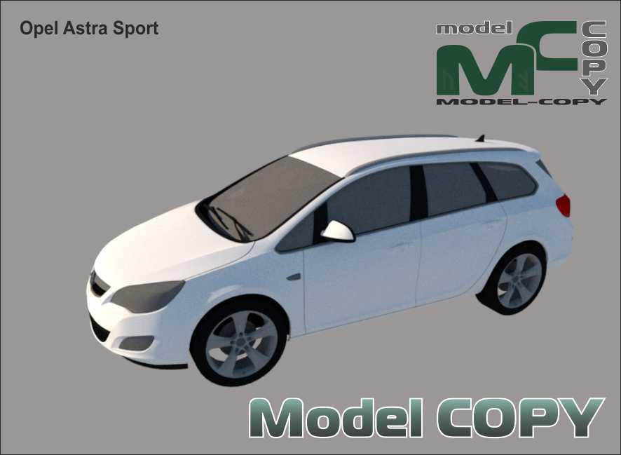 Opel Astra Sport - 3D Model