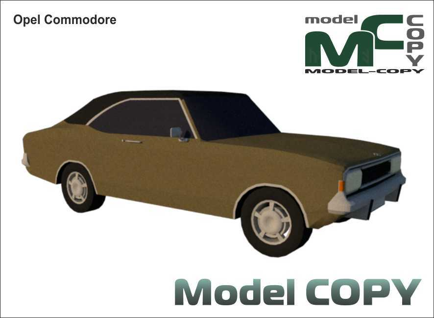 Opel Commodore - 3D Model