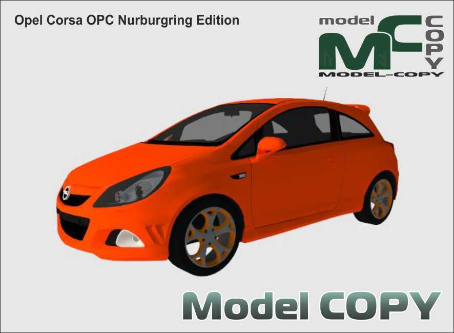 Opel Corsa OPC Nurburgring Edition - 3D Model