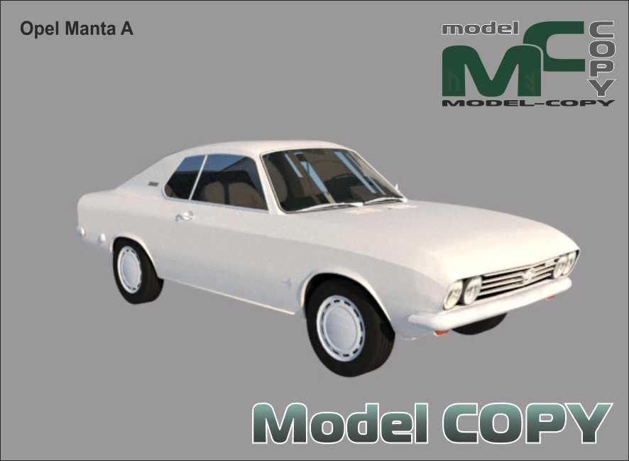 Opel Manta A - 3D Model