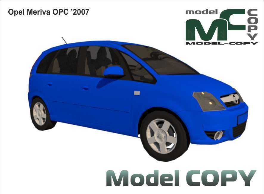 Opel Meriva OPC '2007 - 3D Model