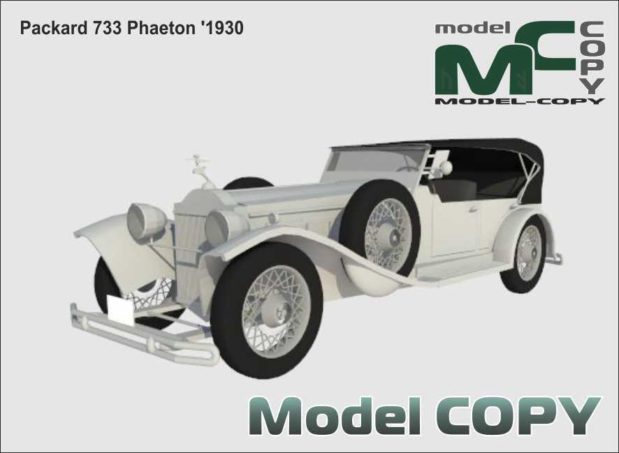 Packard 733 Phaeton '1930 - 3D Model
