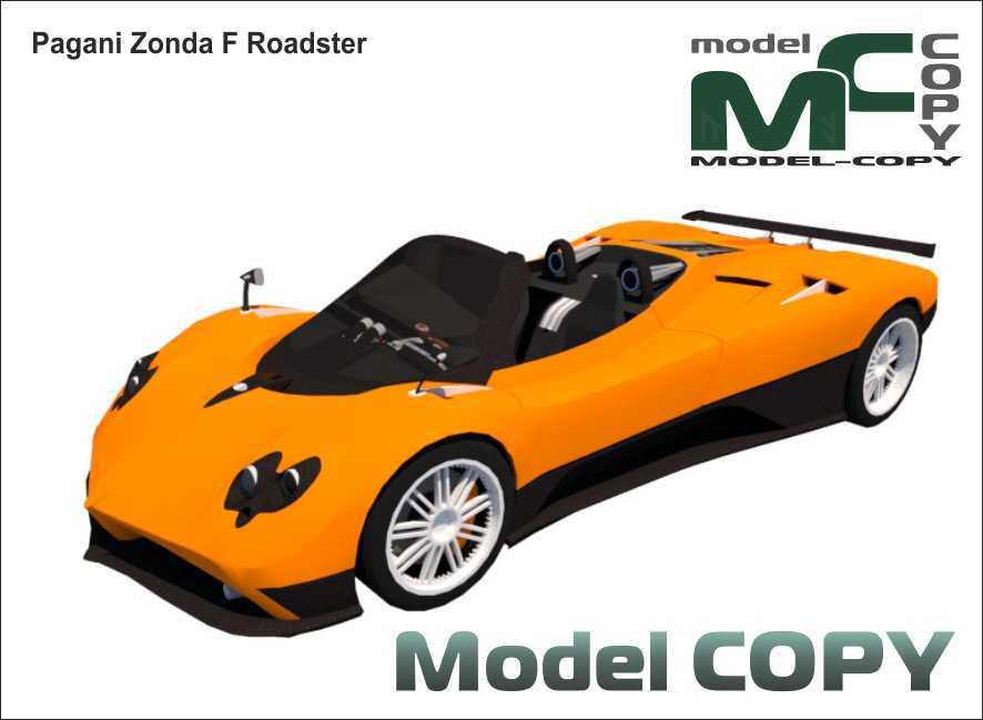 Pagani Zonda F Roadster - Modello 3D