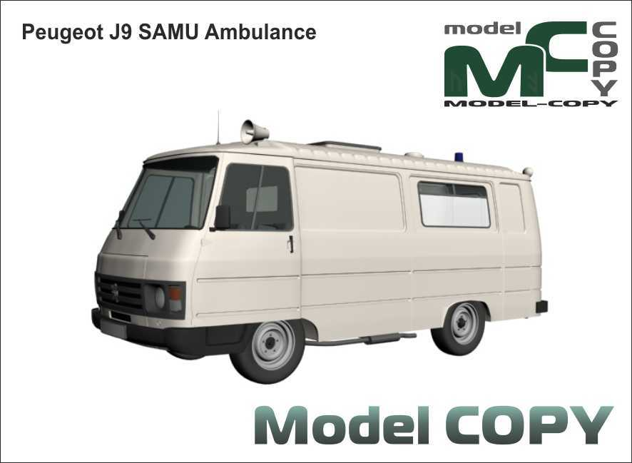 Peugeot J9 SAMU Ambulance - 3D Model