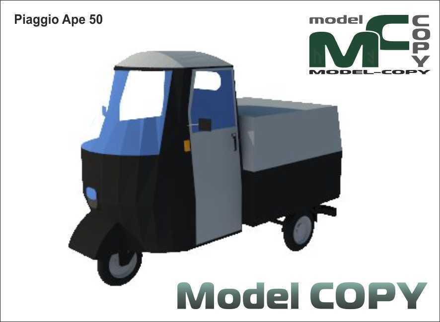 Piaggio Ape 50 Modello 3d 13900 Model Copy