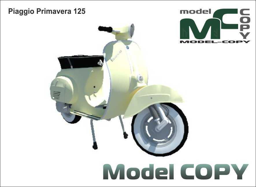 Piaggio Primavera 125 - 3D Model