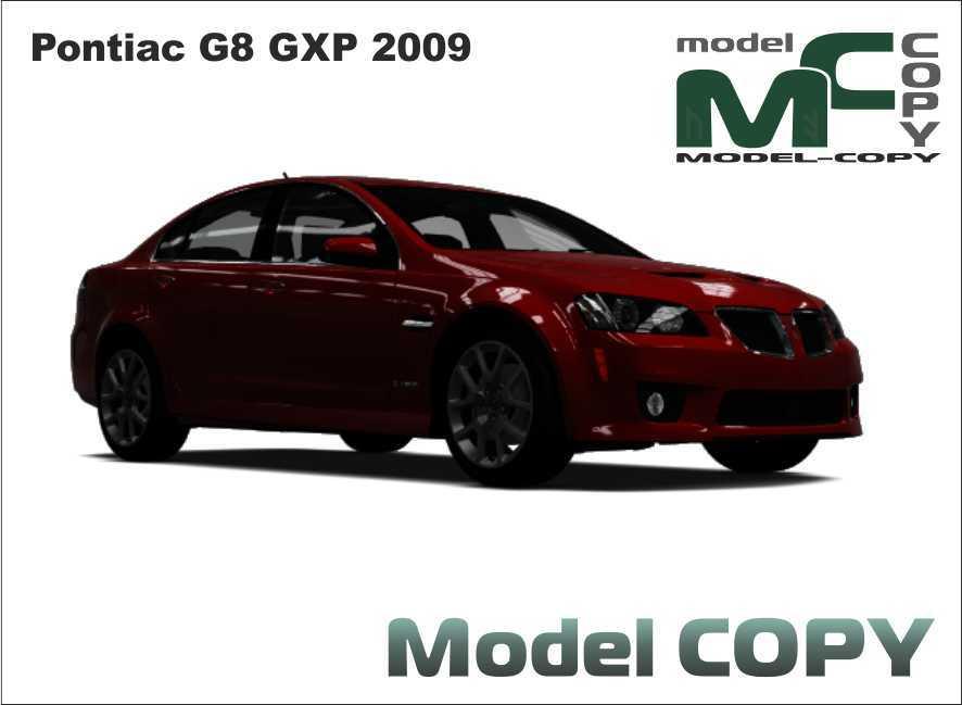 Pontiac G8 GXP 2009 - 3D Model