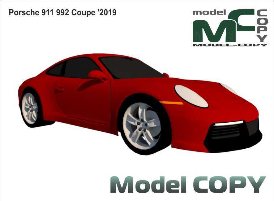 Porsche 911 992 Coupe '2019 - 3D Model