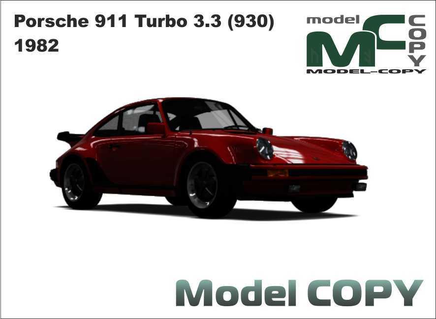 Porsche 911 Turbo 33 930 1982 3d Model 19456 Model Copy