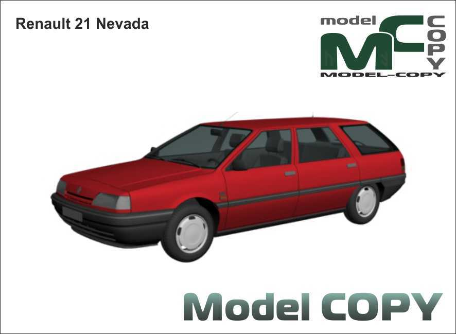 Renault 21 Nevada - 3D Model