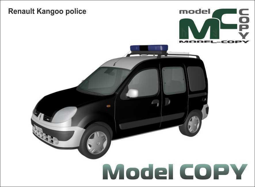 Renault Kangoo police - 3D Model