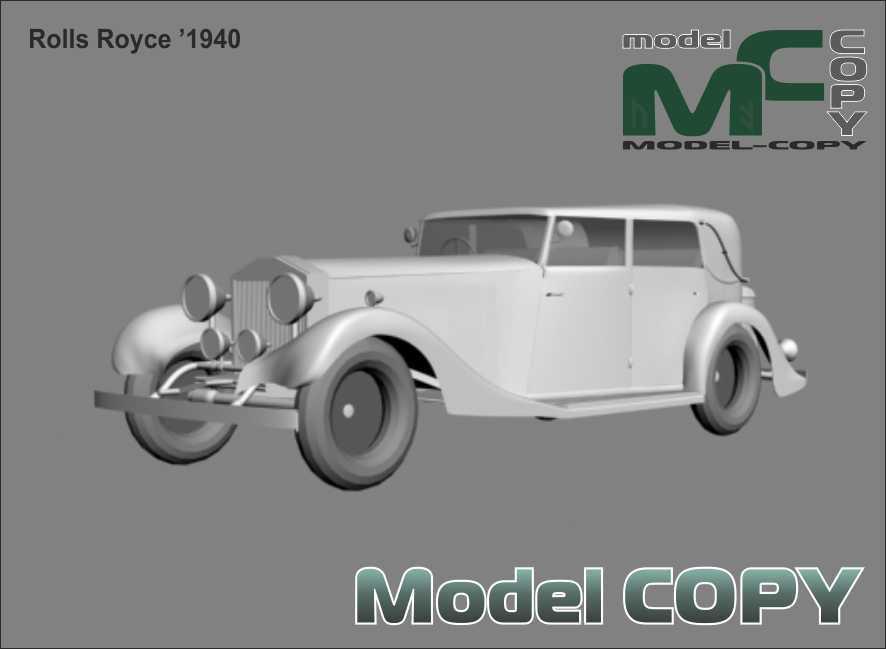 Rolls Royce '1940 - 3D Model