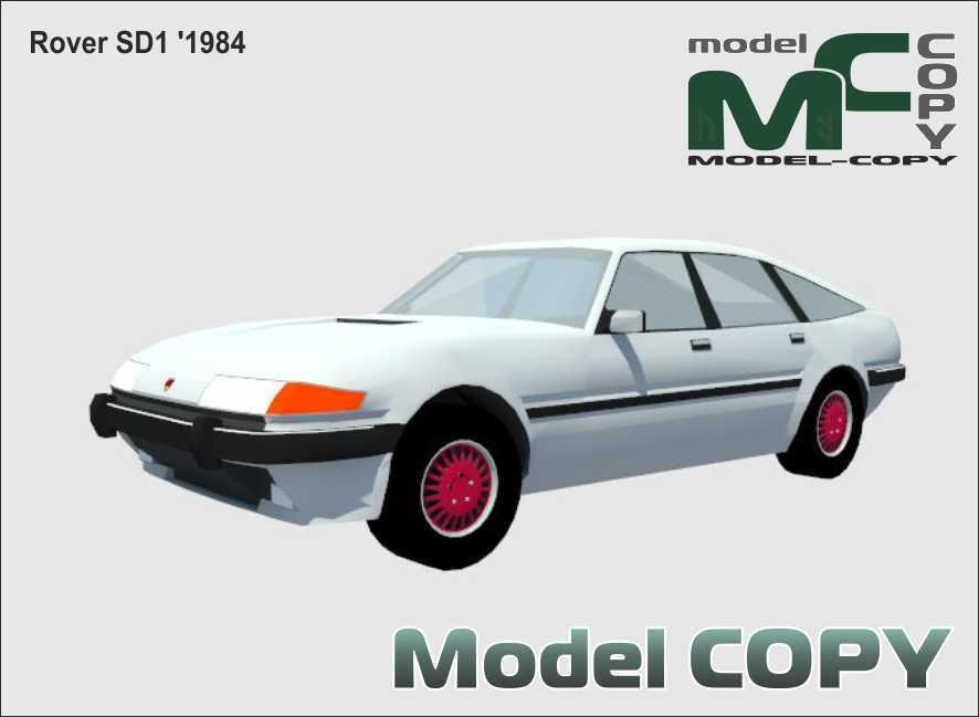 Rover SD1 '1984 - 3D Model
