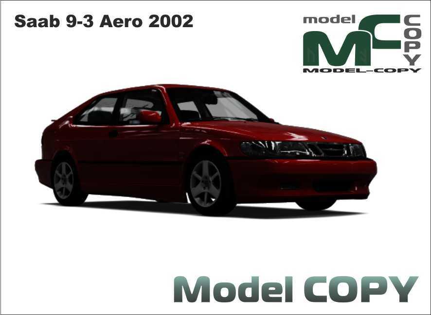 Saab 9-3 Aero 2002 - 3D Model
