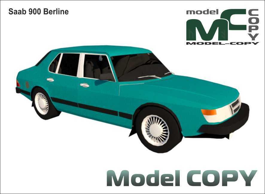 Saab 900 Berline - 3D Model
