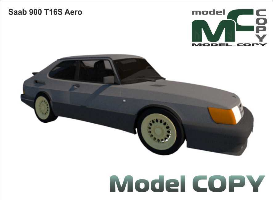 Saab 900 T16S Aero - 3D Model