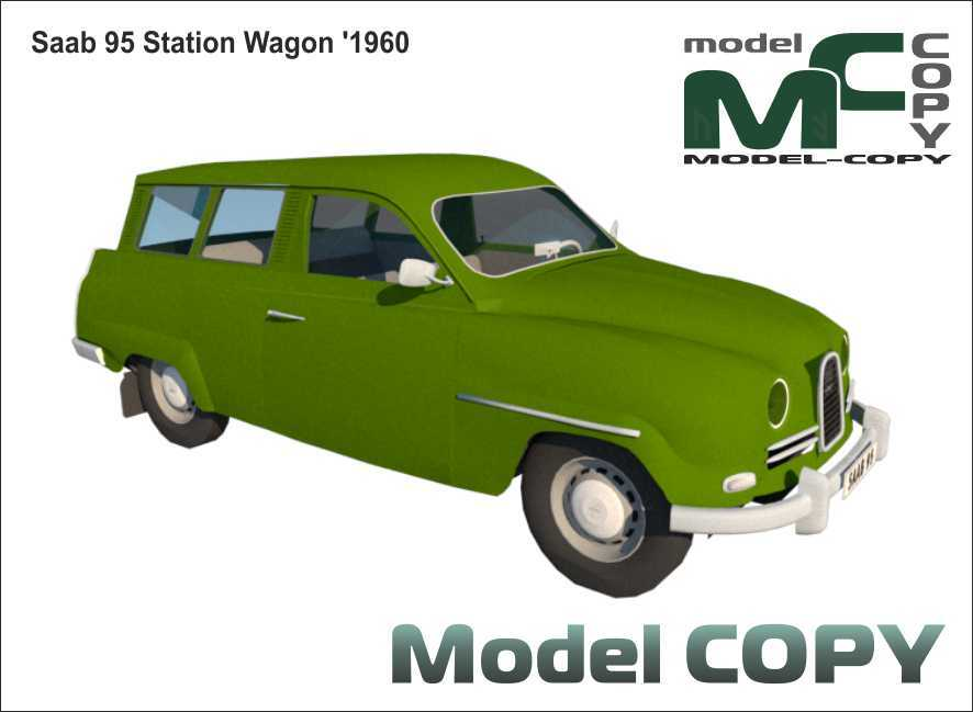 Saab 95 Station Wagon '1960 - 3D Model