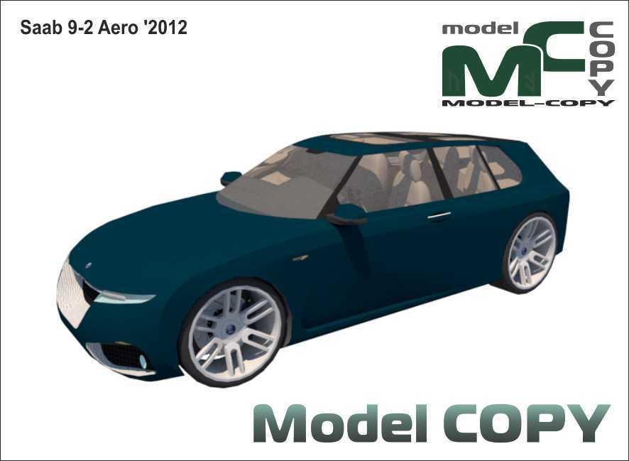 Saab 9-2 Aero '2012 - 3D Model