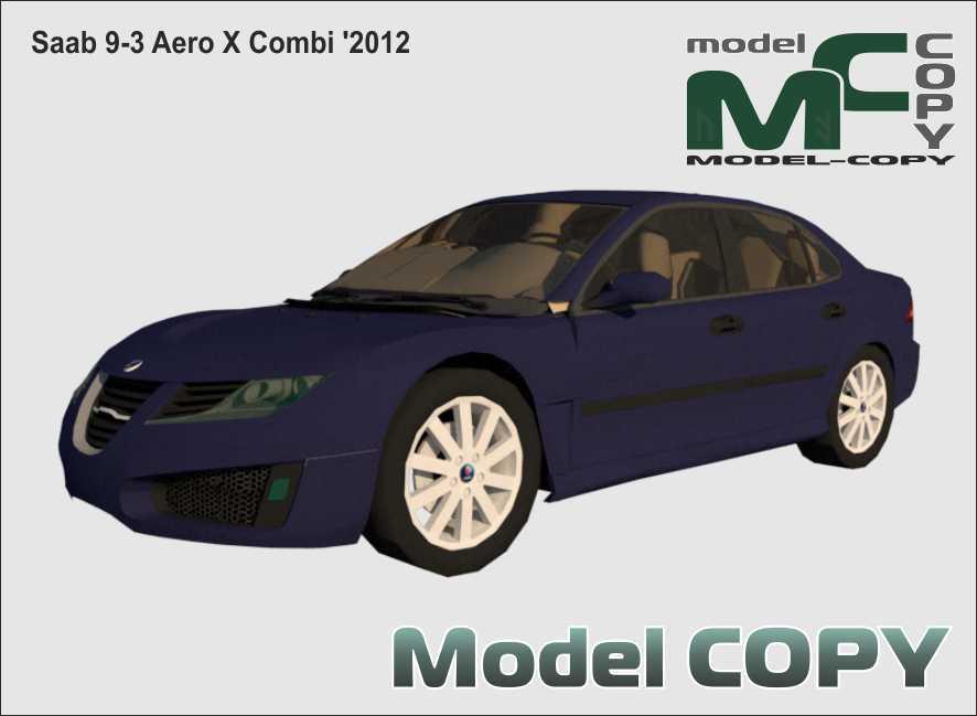 Saab 9-3 Aero X Combi '2012 - 3D Model