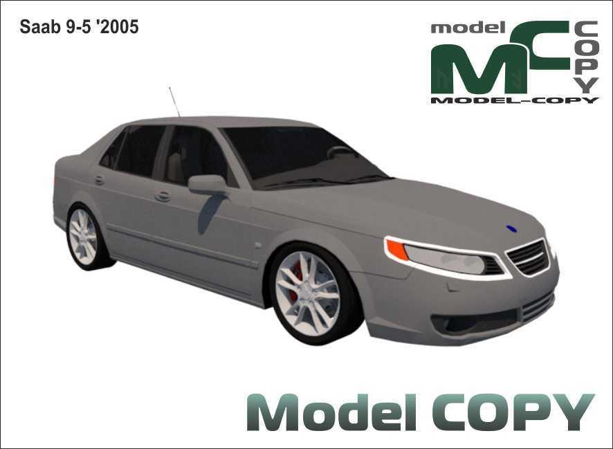 Saab 9-5 '2005 - 3D Model