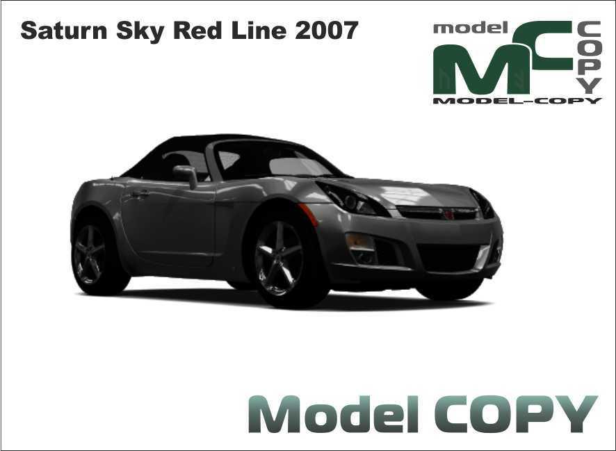 Saturn Sky Red Line 2007 - 3D Model