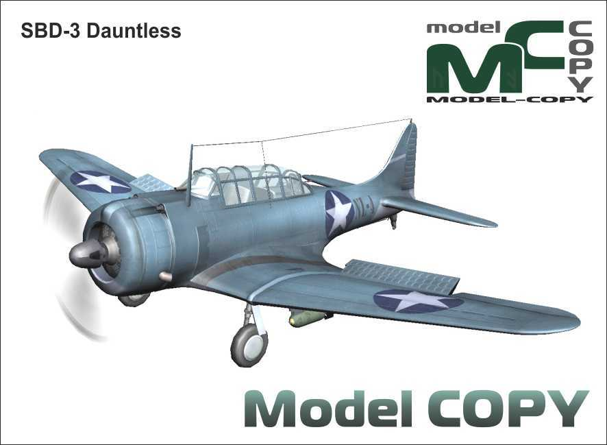 SBD-3 Dauntless - 3D 모델