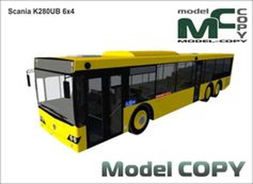 Scania K280UB 6x4 - 3D Model