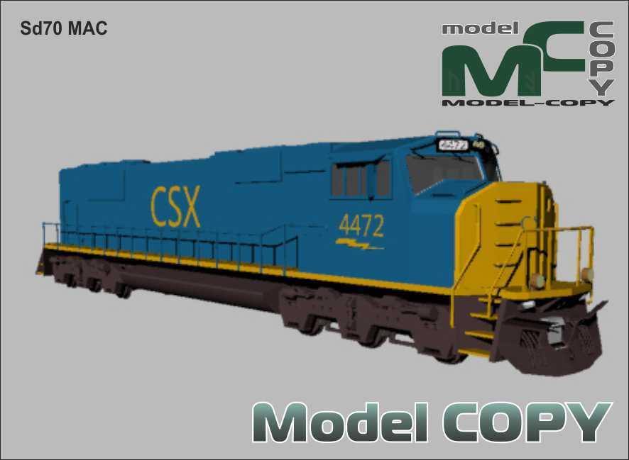 Sd70 MAC - 3D-модель