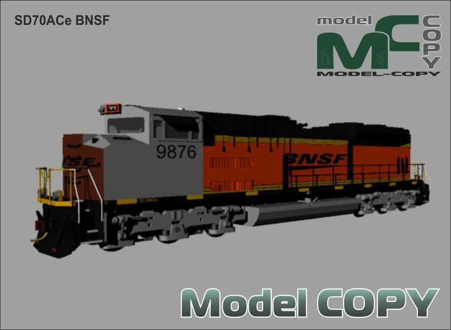 SD70ACe BNSF - 3D Model