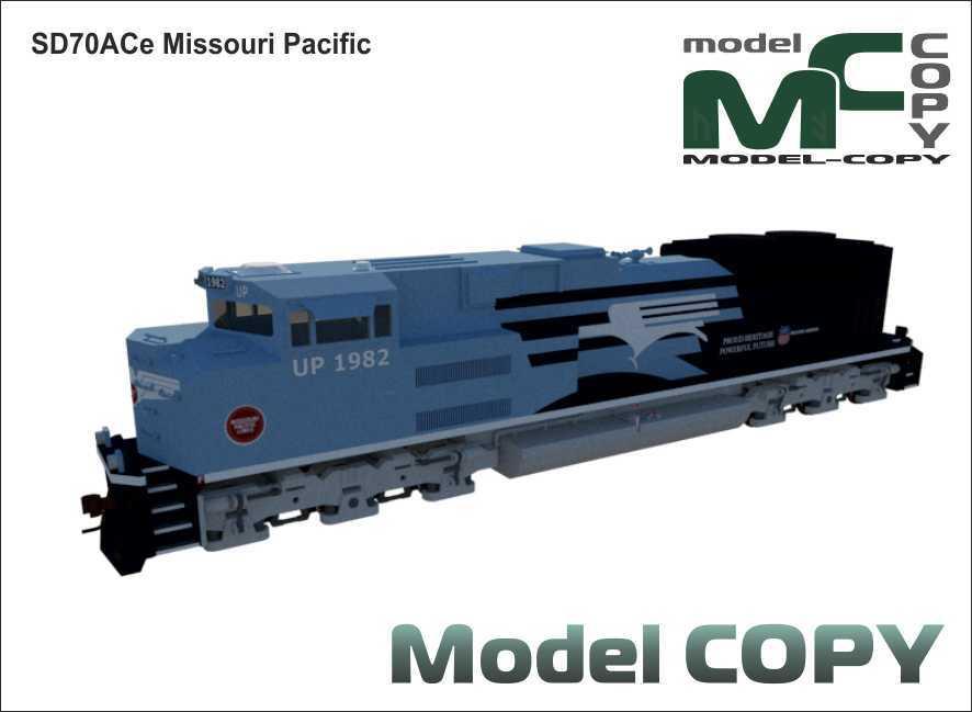SD70ACe Missouri Pacific - 3D Model