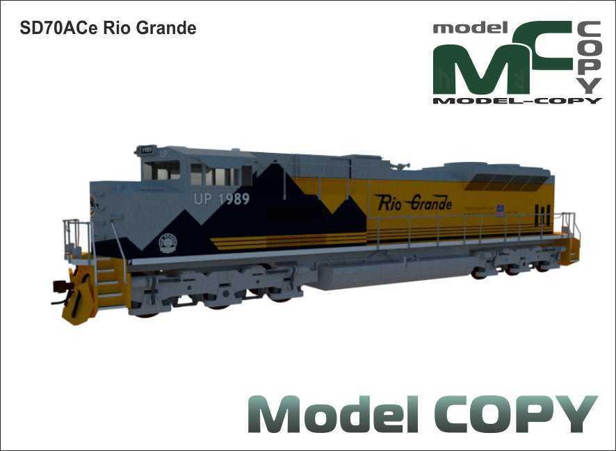SD70ACe Rio Grande - 3D Model