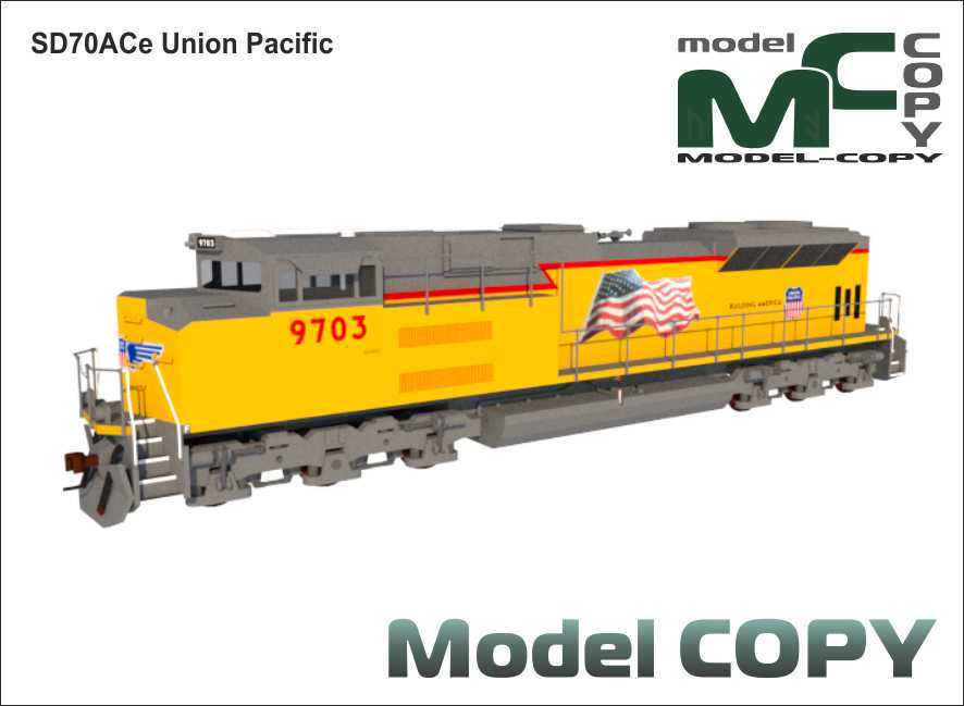 SD70ACe Union Pacific - 3D Model