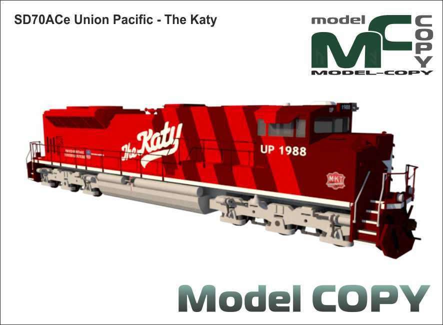 SD70ACe Union Pacific - The Katy - 3D Model