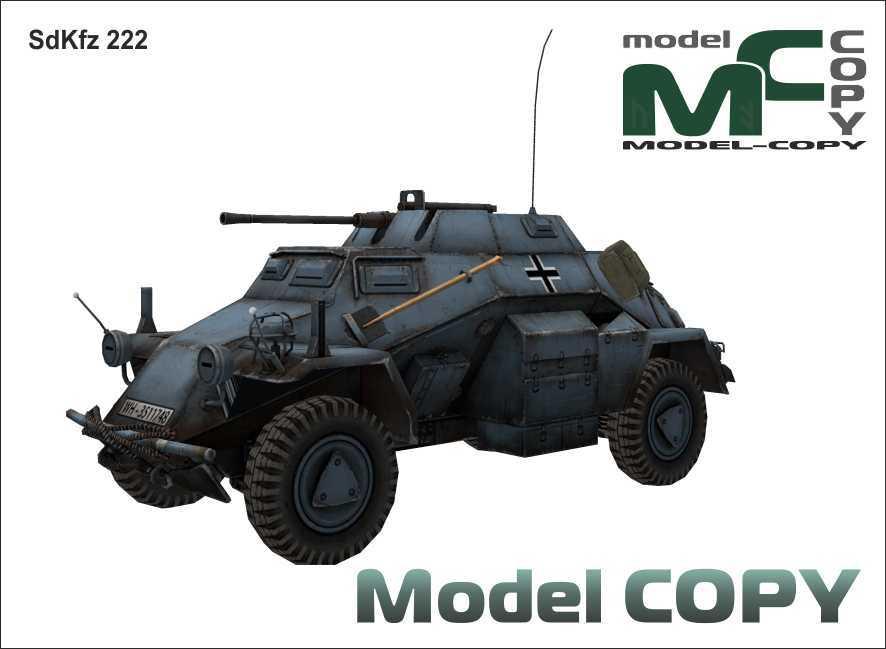 SdKfz 222 - 3Dモデル