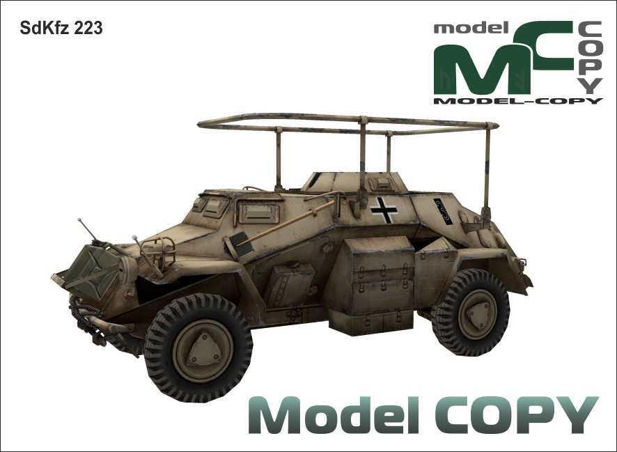 SdKfz 223 - 3D-модель