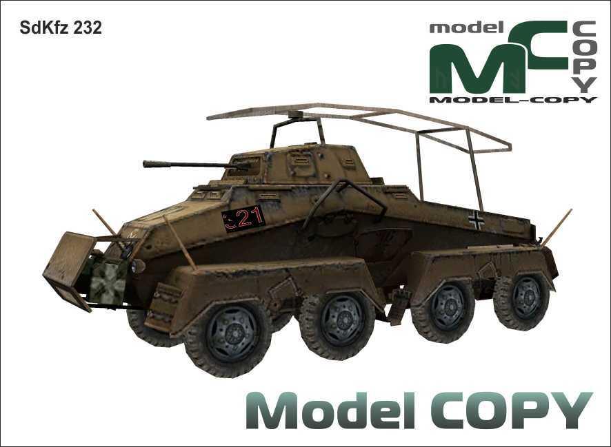 SdKfz 232 - 3D-модель