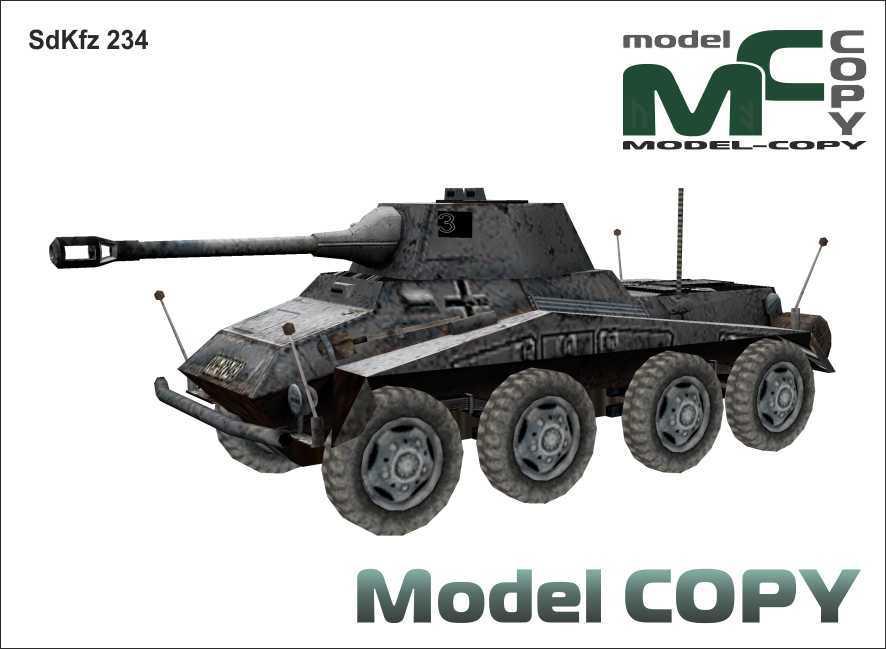 SdKfz 234 - 3D-модель